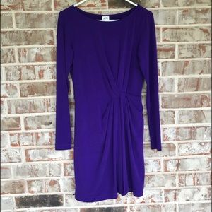 Ali Ro Purple Wrap Mother Of the Bride Dress